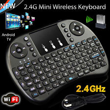 2.4G Mini Teclado Inalámbrico con aire Mouse Touchpad Para Android Smart TV Box PC
