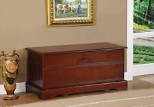 Cherry Wood Finish Locking Cedar Lined Storage Chest by Coaster 4694