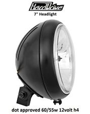 "Hard Drive Motorcycle Headlight Black Assembly 12v 60/55w H4 7"" Harley Davidson"