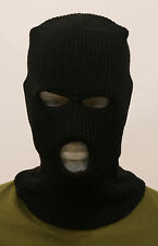 BALACLAVA THREE HOLE  NEW SKI ARMY MASK FISHING SNOWBOARD BLACK SAS STYLE