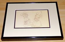 DISNEY THE BRAVE LITTLE TAILOR MICKEY MOUSE MINNIE DRAWING FRAMED PROMO CARD