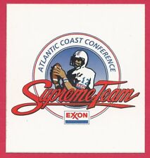 Atlantic Coast Conference ACC 1991 NCAA Pocket Football Schedule - Exxon