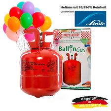 Ballongas Helium im Set mit 20 Luftballons, Einwegflasche