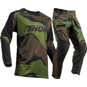 NEW Thor MX Terrain Green Camo Offroad Offroad Motocross Bike Riding Gear Set
