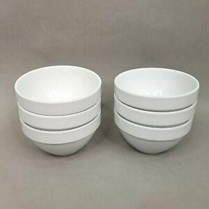 6 Williams Sonoma Essential White All Purpose Bowls Cereal Soup Farmhouse Style