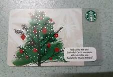 Starbucks Malaysia Card Christmas Tree Collectible very RARE 2015 Xmas Ornaments