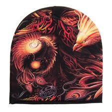 Spiral Direct Phoenix Arisen Black Orange Beanie, Alternative Fashion Hat