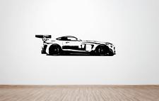 Mercedes-Benz SLS AMG GT Race Car Pared Arte Calcomanía/Pegatina. (enorme) (Lado)