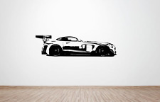 Mercedes-Benz SLS AMG GT Race Car Wall Art Decal/Autocollant. (Énorme) (Côté)