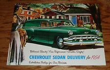 1954 Chevrolet Truck Sedan Delivery Models Foldout Sales Brochure 54 Chevy