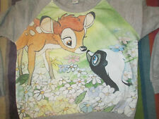 Disney Bambi Kawaii top kitsch cosplay harajuku girls cute ditsy m 10 12 14 16