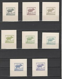 ++ 1961 Fauna 34,80 Nominal in Different Colour Thick Paper