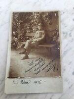 MILITARE PRIMA GUERRA 1915 VECCHIA CARTOLINA FOTOGRAFICA OLD PHOTO POSTCARD