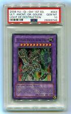 Yu-Gi-Oh 1st Edition Ultimate Ancient Gear Golem LODT-EN043 PSA 10 GEM MINT