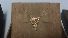 "Welsh Clogau 9ct Yellow & Rose Gold Heartstrings Necklace 17"" Chain RRP £700"