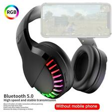 RGB Gaming Headset and Mic Wireless Bluetooth Headphones for Phones/PC/IPad