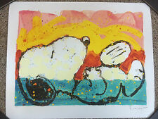 Tom Everhart Lithograph Snoopy Bora Bora Boogie Down Signed Numbered Hand Pulled