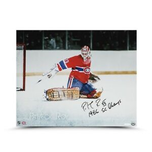 """Patrick Roy Signed Autographed 16X20 Photo """"The Save"""" Inscribed Canadiens UDA"""
