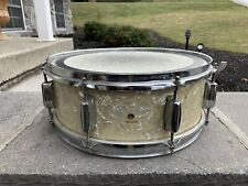 """Vintage Snare Drum Pearl Yellow Shell 14"""" X 6"""