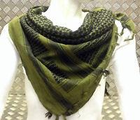100% Cotton Shemagh / Arab Scarf / Pashmina / Wrap / Sarong. Green & Black - NEW