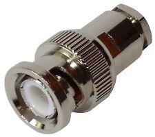 Connecteur fiche BNC mâle 75Ω 1GHz pour câble RG210 RG52 RG59