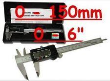 "150mm 6"" Digital Caliper Vernier Gauge LCD Screen In Hard Plastic Case Free Post"
