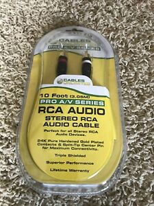 Cables unlimited  Stereo RCA Audio Cable 3 meter