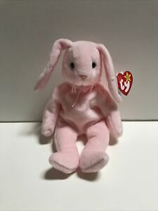 Ty Beanie Baby, Hoppity Pink Bunny, 1996 New 4th Gen Tag