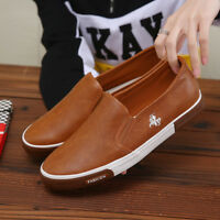 Men's Running Sport Shoes Casual Fashion Comfy Leather Sneakers Breathable New