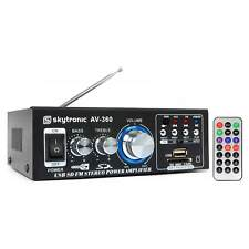 AMPLIFICATEUR AMPLI STEREO KARAOKE 2 x 40W MAX RADIO FM CARTE SD LECTEUR USB MP3