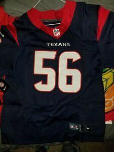 Nike elite Houston Texans #56 Brian Cushing Stitched men's Jersey Sz 40