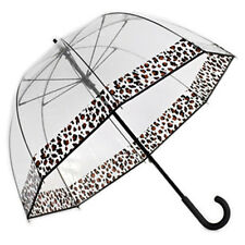 Couture CHEETAH Safari Leopard Trim Clear Dome Bubble Umbrella