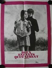 Affiche Cinéma DEUX ENFANTS QUI S'AIMENT 1971 GILBERT Bury Alvina - 36x56