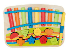 Children's Instrument Wooden Xylophone Piano Sorter with Shapes Playtive (10pcs)