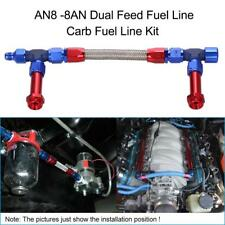 AN8-8AN Dual Feed Fuel Line Carb Fuel Line Kit For Holley Dominator 4500 G3Z4