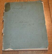 E.M. Robinson Diary 1887 Winnipeg Manitoba Canada Immigration