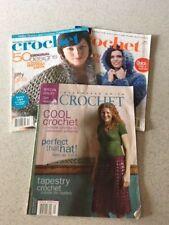 3 QTY: 2-Better Homes & Gardens Simply Creative Crochet & 1-Interweave Crochet