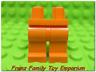 New LEGO Minifig Legs Plain Orange Male/Female Star Wars Ninjago City Body Part