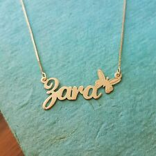 Gold necklace ANY name, my name necklace, 14k 10k Gold, Real Gold necklace chain