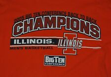 t-shirt medium university of illinois basketball conf champs 20 inches pit 2 pit