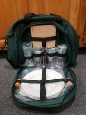 Picnic Set Can Complete Service For 4 Insulated Bag Beautiful Condition New...
