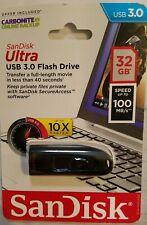 SanDisk Ultra 3.0 32 GB USB Flash Drive New  Speed 100mb