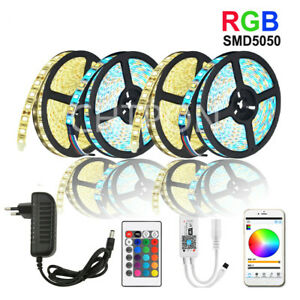 WiFi/IR/2.4G Touch 2835 5050 RGBW/RGBWW 60leds LED Strip DC 12V+Control+ Adapter
