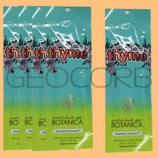 5 SWEDISH BEAUTY FREE THYME INTENSIFIER HYPOALLERGENIC  PACKET LOTION SAMPLE