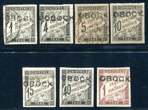 OBOCK PORTO 1892 Yvert TT 14,16 * etc 540€(S5465
