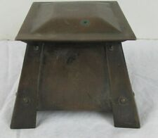 Antique Unmarked  Art Deco, Arts & Crafts Period Copper inkwell