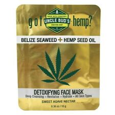 UNCLE BUD'S DETOXIFYING FACE MASK 10G BELIZE SEAWEED DEEP CLEANSING UNCLE BUDS