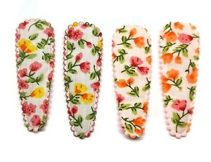 36 pcs Mix colors cute wild Flower Printed Hair Clip COVERS size 55 mm