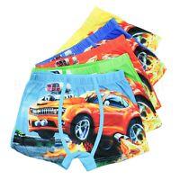 Boys Kids Underwear Cartoon Boxer 5 Pack Car Baby Children Cotton Briefs Gift