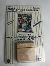 CAL RIPKEN Topps Worlds thinnest Porcelain Baseball CARD SEALED LIMITED EDITION